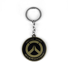 Hot Games Vintage Overwatch Keychains Anime Key Cover Holder Keyring Jewelry Men Chaveiro Llaveros