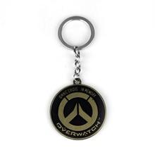 цены Hot Games Vintage Overwatch Keychains Anime Key Cover Key Holder Keyring Jewelry Men Chaveiro Llaveros