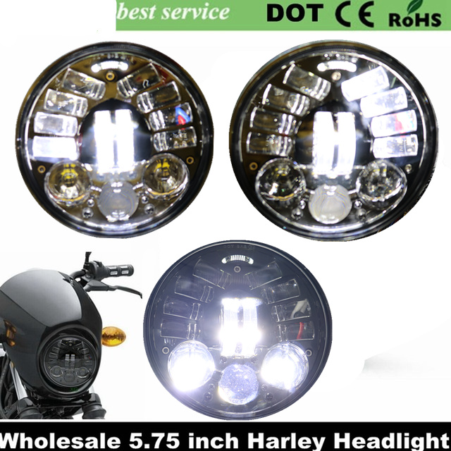 2018 новый harley Интимные аксессуары 5.75 Фара 5 3/4 LED фара для Harley 5 3/4 мотоцикл черный проектор daymaker LED