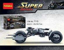 Decool 7115 Super Héros Le Dark Knight Batman batcycle Batmobile 338 PCS Briques batpod Blocs de Construction Jouets