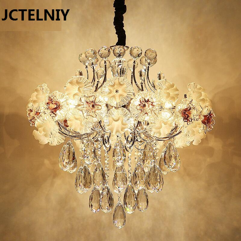 Modern luxury crystal pendant light gold for the restaurant bedroom lights LED bulb gold Dia450mm 2017 modern luxury crystal pendant light gold for the restaurant bedroom lights led bulb gold
