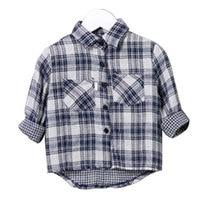 Fashion Long Sleeve Children Top Blouses Autumn Casual Cartoon Cotton Shirt Blouses baby Boys Girl Striped Plaid Cardigan Blouse