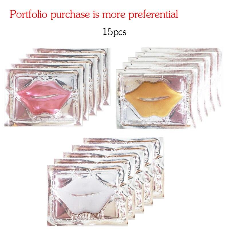 Venda quente Máscara de Colágeno Lábio Combinação 3 tipos 15 pcs Moisturing Nutrir Anti Rugas Lip Aprimoramento lábios Cuidados