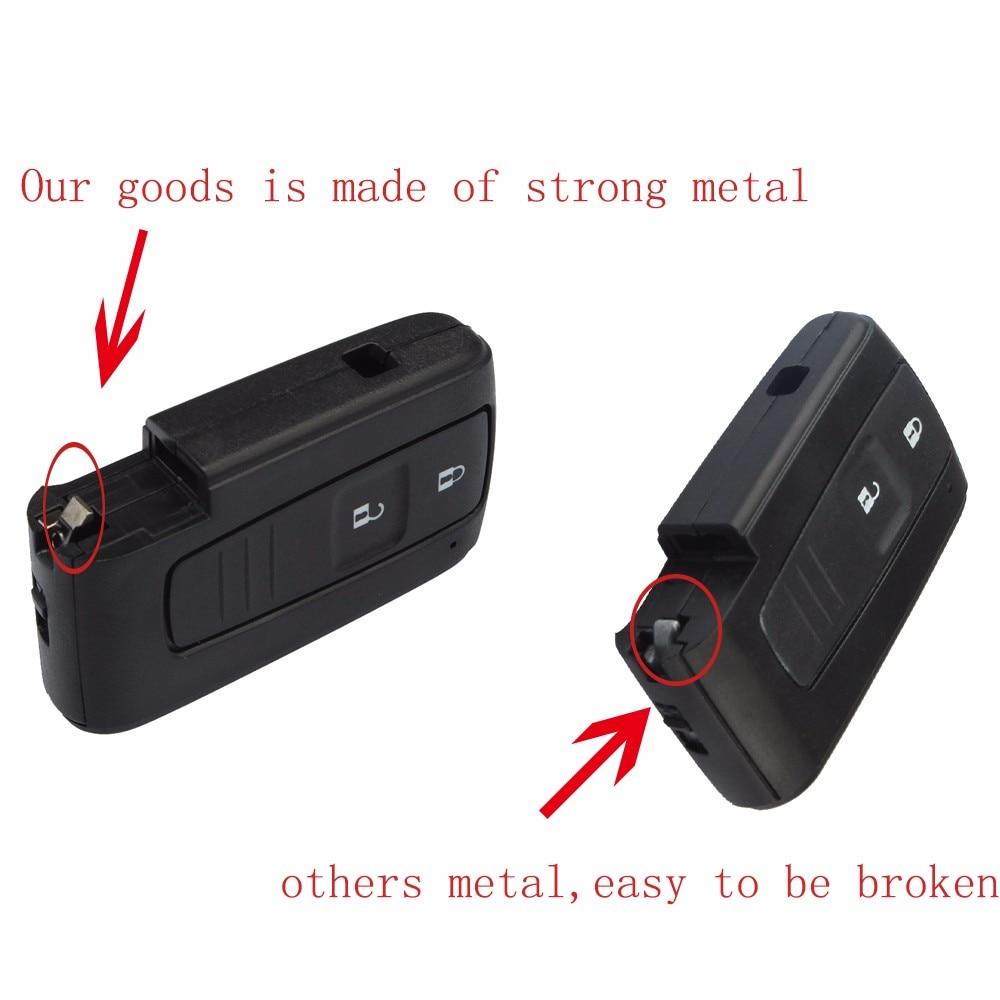 2Knapper Smart Key Remote Fob Case Key Shell Til TOYOTA Prius 2004 - Bilreservedele - Foto 2