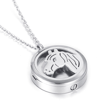 ijd5002 Horse Cut Perfume Locket Animal Urn Cremation Urn For Pet/Human Ashes Pendant Necklace 2 Function Cheap Sale Pas As Gift