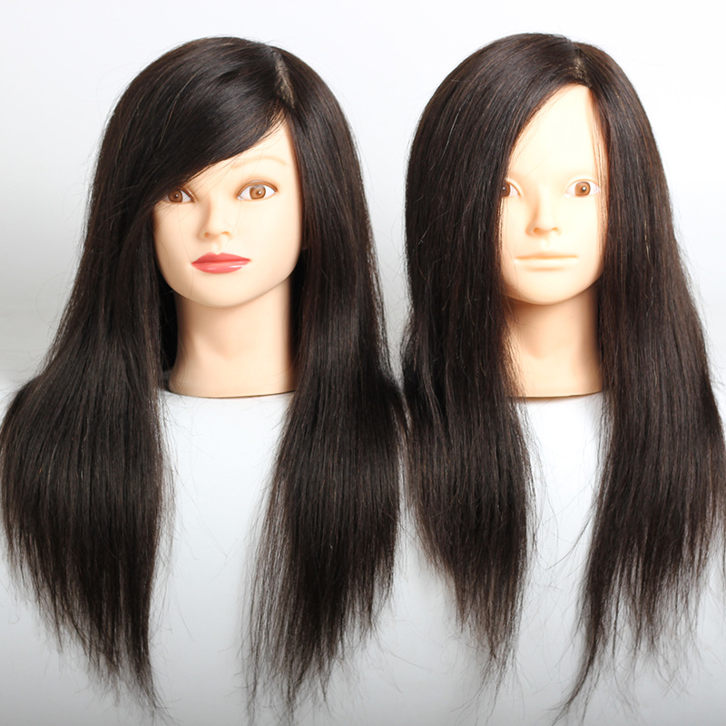 Hair styling head professional manikin head with 100% human hair hairdressing mannequins hair mannequin head hairdresser head