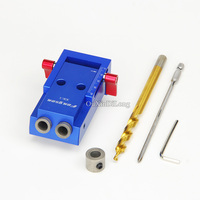 Hot Mini Kreg Style Pocket Hole Jig Kit System For Wood Working Joinery With 3 8
