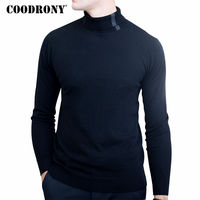 COODRONY Christmas Sweater Men Winter Soft Warm Merino Wool Sweaters Casual Turtleneck Pullover Men Knitted Cashmere