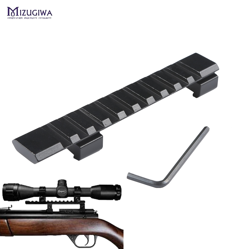 Scope Mount 11mm to 20mm Picatinny Rail Adapter Weaver Rail 10 Slots 124mm Length for Hunting Rifle Air Gun Scope Laser caza(China)