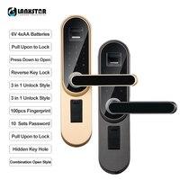 LANXSTAR Главная Smart отпечатков пальцев паролем дверь межкомнатная дверь Спальня дерево замок двери офиса комнатный замок электронный замок дв