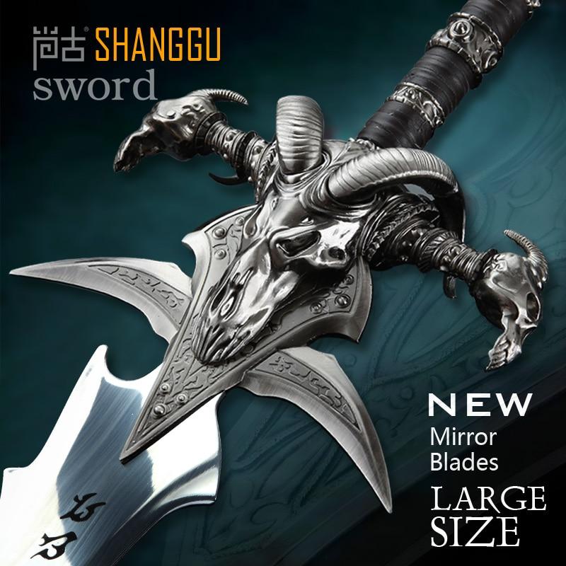Frostmourne épée réplique Collection longueur 108 CM en acier inoxydable fait COS Arthas Menethilfrostmourne à vendre