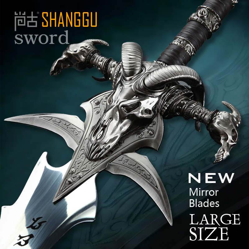 What Is Stainless Steel Made Of >> Us 114 0 Frostmourne Sword Replica Collection Length 108cm Stainless Steel Made Cos Arthas Menethilfrostmourne For Sale In Swords From Home Garden