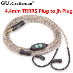GUCraftsman 8-core silver JH24/AKR03/AKR02/JH16/JH13/Rosie/layla/Roxanne Headphone upgrade Cables