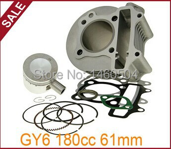 170cc GY6 Big Bore High Performance Cylinder Kits for 125cc 150cc 61mm for Scooter ATV Go