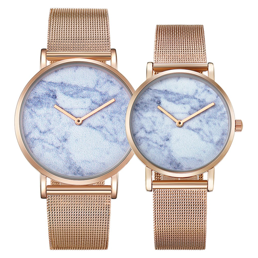CAGARNY Women Watches Stainless Steel Mesh Band Gold Casual Watch Top Brand Luxury Lover Wristwatch Man Fashion Couples Gifts