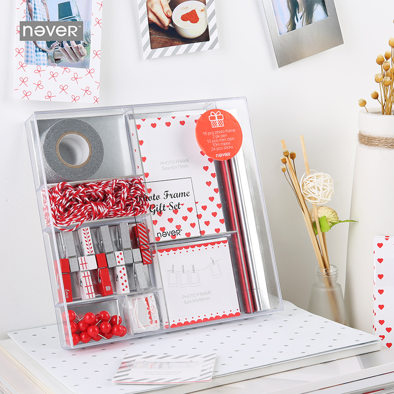 Free shipping Valentine's gift Picture frame set paper frame paper work pin neutral pen and paper tape kitmmm6200341296pac103620 value kit pacon riverside construction paper pac103620 and highland invisible permanent mending tape mmm6200341296