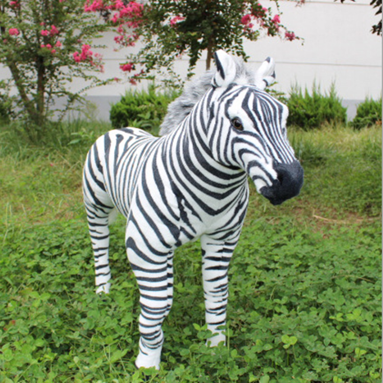 simulation animal standing zebra large 110x90cm plush toy .Photography prop,Home,party decoration Christmas gift h890 squatting pose large 20x32cm simulation poodle toy white fur dog model ornament photography prop home decoration gift h1402
