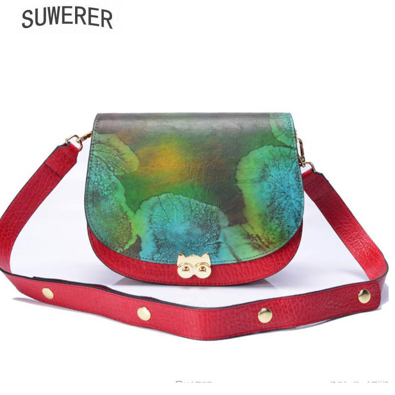 SUWERER New women leather handbag Superior cowhide Fashion embossing bags women Genuine Leather bag fashion leather shoulder bagSUWERER New women leather handbag Superior cowhide Fashion embossing bags women Genuine Leather bag fashion leather shoulder bag