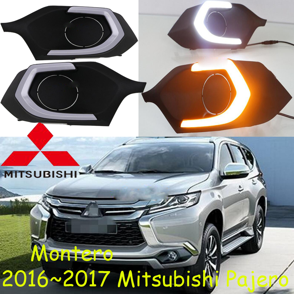 Mitsubish Pajero daytime light;2016~2017, Free ship!LED,Pajero fog light,Outlander,Pajero montero