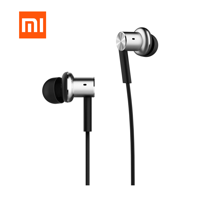 Original Xiaomi Hybrid Earphone QTER01JY with Mic Remote Headphones Headset for Xiaomi Phone ear Headphones kz headset storage box suitable for original headphones as gift to the customer