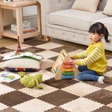10Pcs/Lot Kids Carpet Plush Baby Play Mat For Children EVA Foam Developing Mat Puzzle Kids Soft Floor Rug Game Crawling Playmat 36pcs baby floor foam puzzle mat crawling play pad carpet yh 17