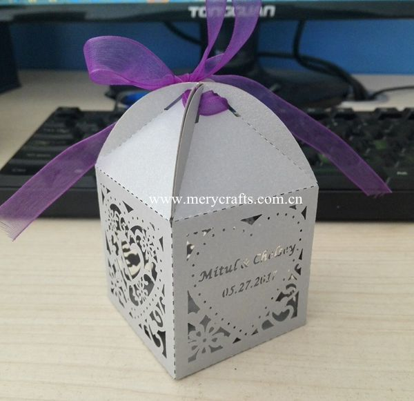 Indian Wedding Gift Box Laser Cut Customized Wedding Favor Boxes