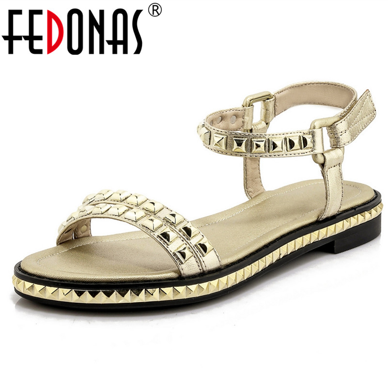 FEDONAS Women Sandals Summer Bling Rhinestone Fashion Peep Toe Wedding Party Shoes Female Genuine Leather Sandals Shoes Woman fedonas women sandals soft genuine leather summer shoes woman platforms wedges heels comfort casual sandals female shoes
