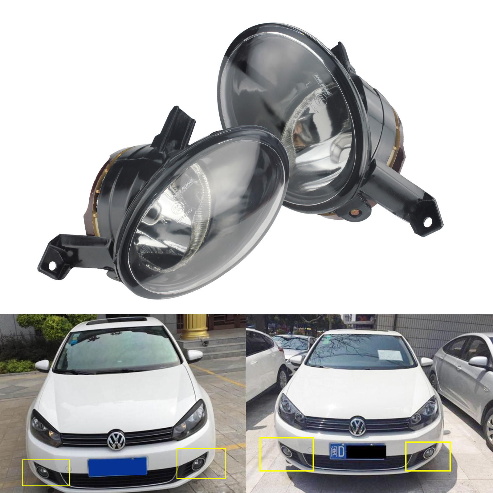 VW UP 2012-/> Front Fog Light Lamp Pair Left /& Right