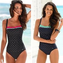 LI-FI 2019 One Piece Swimsuit Women Classic Vintage Swimwear Sliming Push Up Bathing Suit Summer Swimming Suit Beachwear XXL
