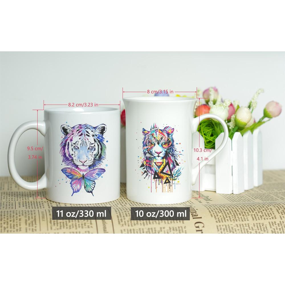 Aries Skull White Enamel Mug for Tea or Coffee 8cm