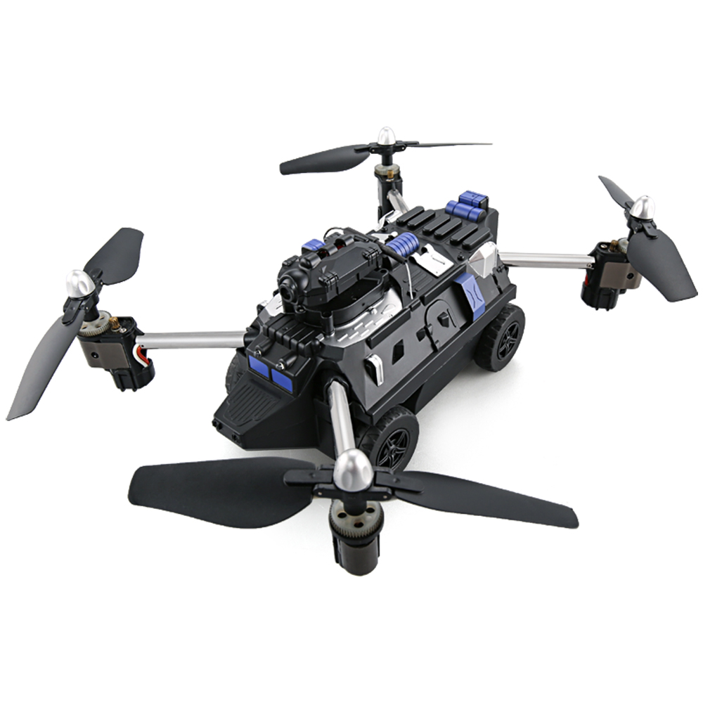 JJRC H40WH WIFI FPV Drone with Camera 200W RC Tank 2.4G 4CH 6Aixs Gyro Air And Ground Mode  Headless Mode Accessories F21720 jjrc h40wh wireless fpv drone with