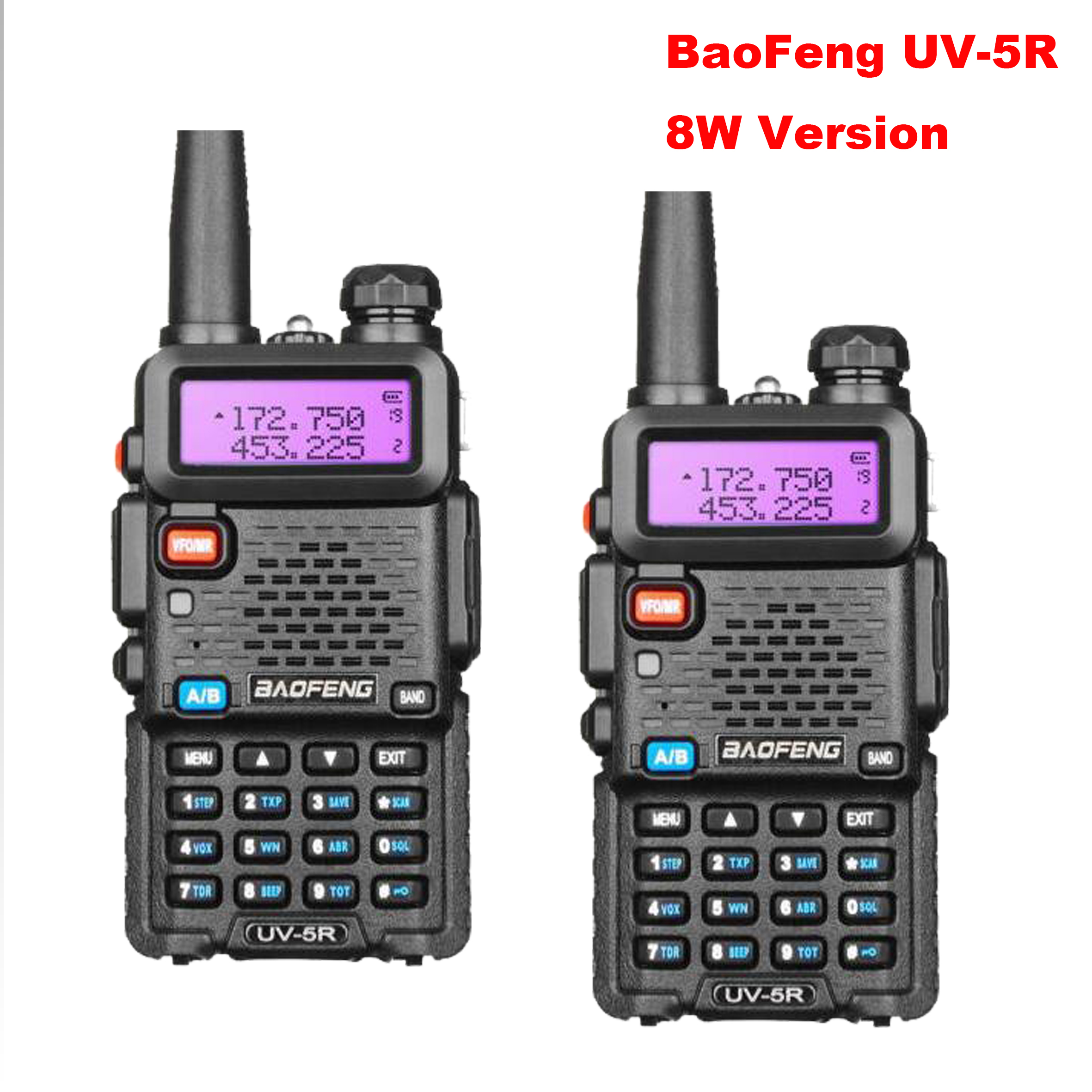 New Baofeng UV 5R 8W Walkie Talkie Upgrade 5R High Power Portable Two Way Radio Dual