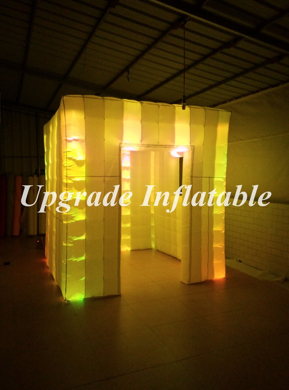 Color booth online - Portable Cube Photo Booth Inflatable Tents Sale With Changing Color China Mainland