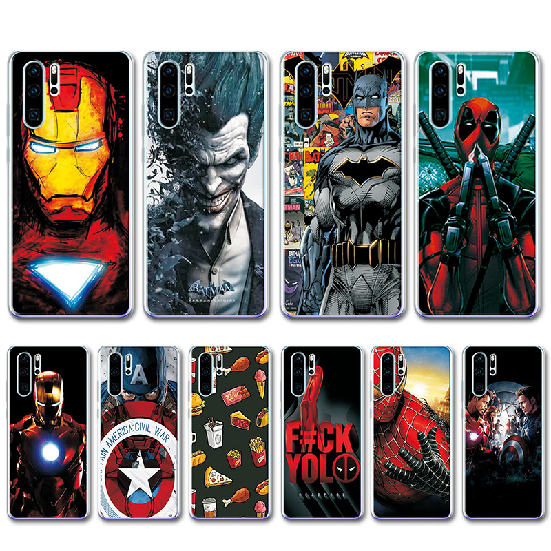 Captain America Cover For Huawei P30 Pro Case VOG-L29 ELE-L29 Novelty TPU Painted Phone Case For Huawei P30 Pro Fundas 6.47""