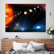 The Solar System 3D Cotton Canvas Art Print Painting Poster Wall Picture For Living Room Home Decorative Bedroom Decor No Frame
