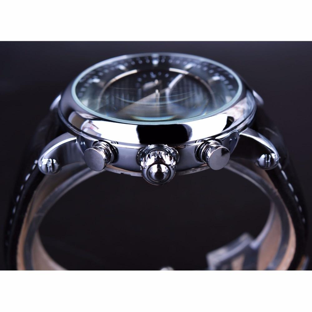 Forsining Luxury Casual Design Moonphase Calendar Көрсеткіш - Ерлердің сағаттары - фото 4