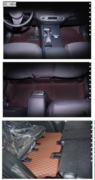 Boa qualidade! Piso especial esteiras para KIA Sorento 7 assentos 2019 à prova d' água tapetes tapetes do carro para Sorento 2018-2015, frete grátis