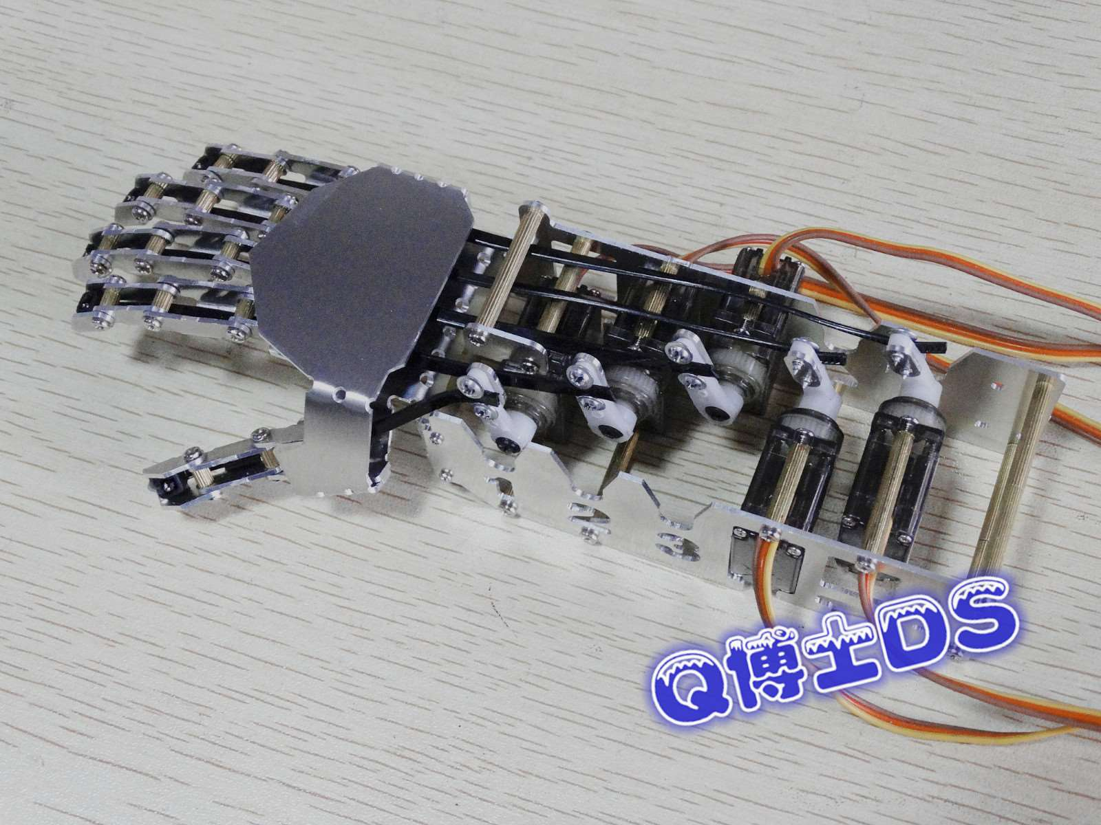 DIY 5DOF Robot Five Fingers Metal Manipulator Arm Left and Right Hand QDS-1601 intelligent force and position control of 6 dof robot manipulator