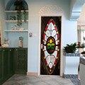 3D виниловые цветные стеклянные наклейки на дверь для лифта  лестницы  декоративные  для спальни  гостиной  водонепроницаемые аксессуары для...