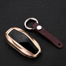 JY Aluminum alloy Remote Key Shell Car Smart Case Cover Accesories For Tesla Model S