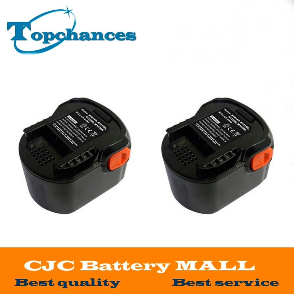2PCS High Quality Power Tool Battery 12V 2000mAh Ni-CD For AEG B1214G,B1215R,B1220R,M1230R,BS12G,BS12X,BSB12G,BSB12STX,BSS12RW аккумулятор для aeg ni cd b1215r b1214g b1214 g b 1214g b 1214 g m1230r 0700 980 320 b1220r m1230r tb2112r 19c bs12g bs 12g