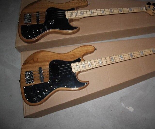 Nouvelle Arrivée Personnalisé F JAZZ Bass Guitare Prendre l'initiative à pick-up 4 Cordes Signature naturel Bois de Guitare Basse Électrique 15-9