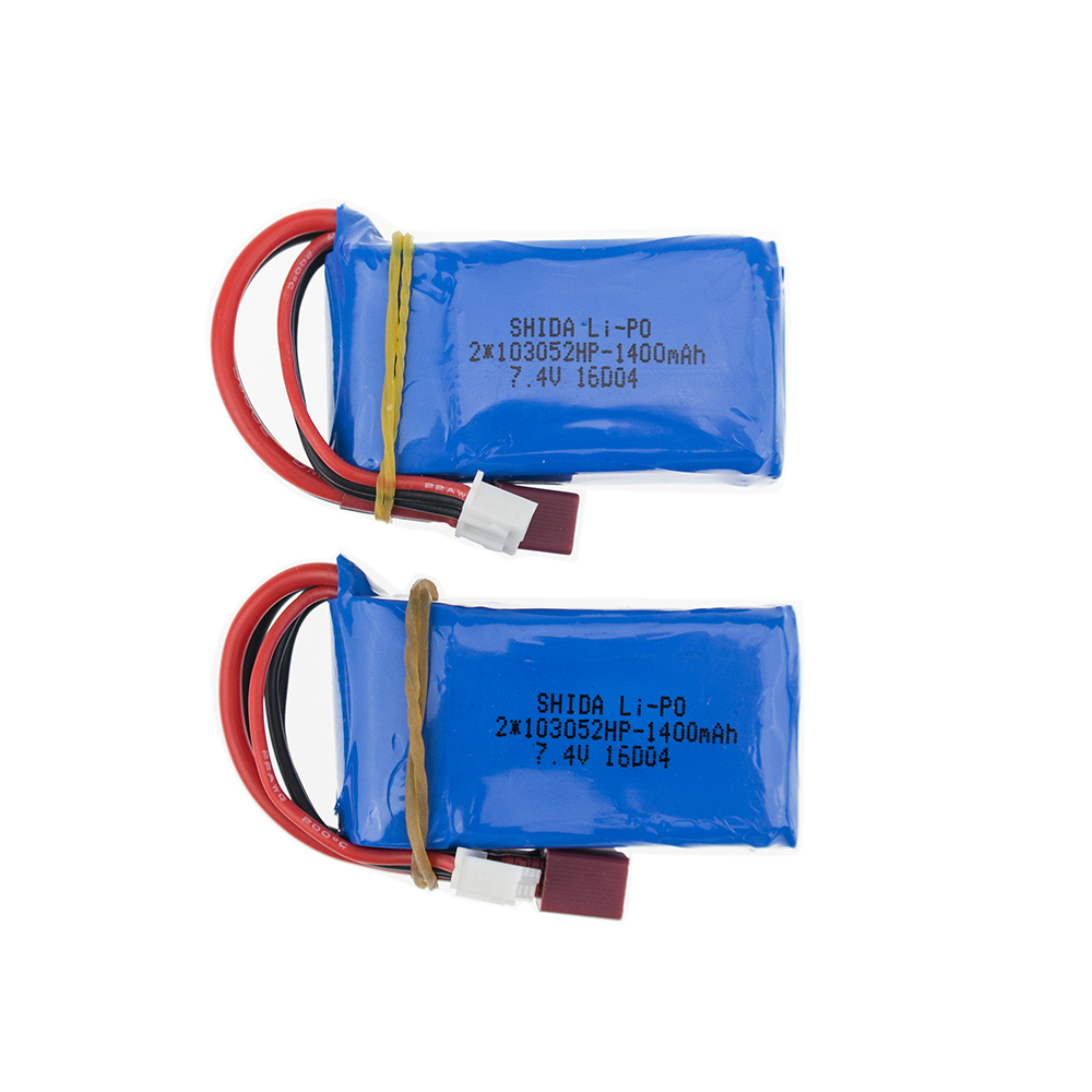 2pcs 7.4V 1400mAh lipo Battery for wltoys A959-b A969-b A979-b K929-B Car Parts RC Helicopter Airplane Car Boat