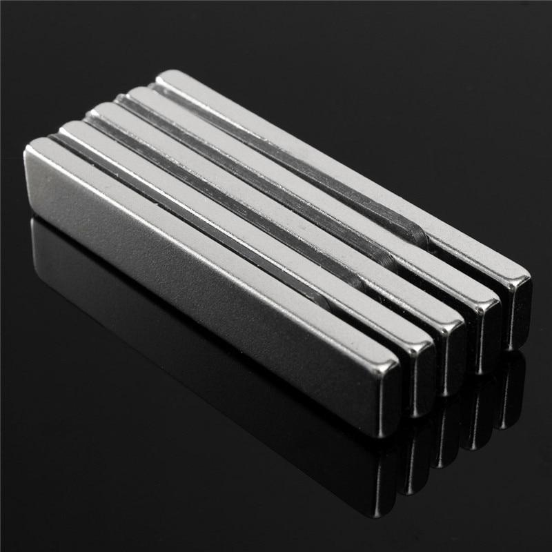 5pcs NdFeB Magnets Super Strong Block Cuboid Magnets Rare Earth Neodymium N50 60 x 10 x 4mm 2pcs bulk super strong neodymium rectangle block magnets 50mm x 30mm x 5mm n35 rare earth ndfeb rectangular cuboid magnet