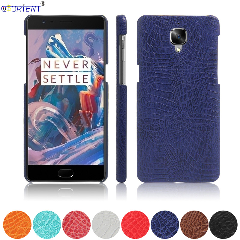 Crocodile Skin Leather Bumper Case For Oneplus 3 Rain A3000 A3003 Hard PC Shockproof Cover 1 One Plus 3 Three Oneplus3 1+3 Shell