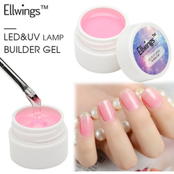 Ellwings 14 Cores Puras UV de Longa Duração Gel Unha Construtor Extensão Do Dedo Pontas Das Unhas UV Gel Polonês Nail Art Design ferramentas do prego