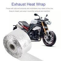 Motorräder Exhaust Header-Wrap Kit Abwärme Wrap Tap Header für Automotive mit 10 Edelstahl Krawatten 5 mt x 5 cm