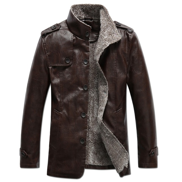 2016 brand mens leather Jacket fashion PU winter men leather coat wool liner casual motorcycle leather jacket puls size xxxl