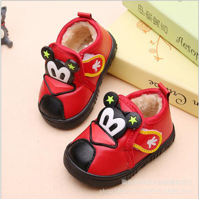 New born baby first walkers kids PU leather soft sole shoes Baby Fur Soft Sole Newborn little Kids Booties comfortable Walker