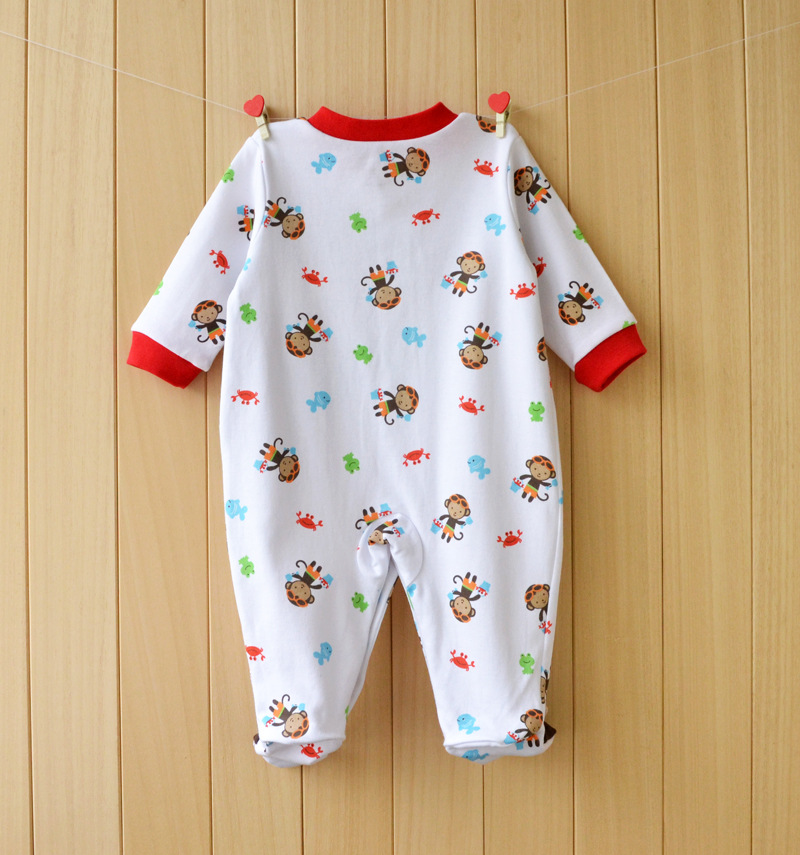 17 New spring cartoon baby rompers cotton 100% girls and boys clothes long sleeve romper Baby Jumpsuit newborn baby Clothing 7